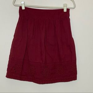 Fat Face skirt Mini Burgundy Size 8